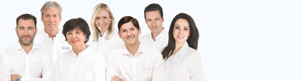 Klinik-Fachärzte der plastischen Chirurgie, ästhetischen Dermatologie und HNO
